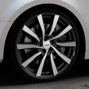 AEZ Reef SUV Black matt/polished Felge mit Reifen silber schwarz in 20Zoll Alufelge auf silbernem Audi A4 Typ B9 (Limousine) ⬇️ mit 15mm Tieferlegung ⬇️ Industriehalle 1 Thumbnail