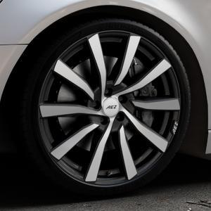 AEZ Reef SUV Black matt/polished Felge mit Reifen silber schwarz in 20Zoll Alufelge auf silbernem Audi A6 Typ 4G/C7 (Avant) ⬇️ mit 15mm Tieferlegung ⬇️ Industriehalle 1 Thumbnail