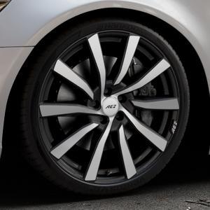 AEZ Reef SUV Black matt/polished Felge mit Reifen silber schwarz in 20Zoll Alufelge auf silbernem Audi A6 Typ 4G/C7 (Limousine) ⬇️ mit 15mm Tieferlegung ⬇️ Industriehalle 1 Thumbnail