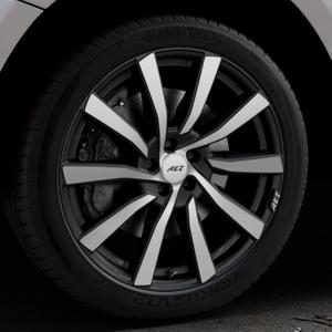 AEZ Reef SUV Black matt/polished Felge mit Reifen silber schwarz in 20Zoll Alufelge auf silbernem Audi Q5 I Typ 8R ⬇️ mit 15mm Tieferlegung ⬇️ Industriehalle 1 Thumbnail