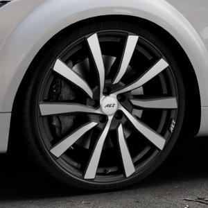 AEZ Reef SUV Black matt/polished Felge mit Reifen silber schwarz in 20Zoll Alufelge auf silbernem Audi TT II Typ 8J (Roadster) ⬇️ mit 15mm Tieferlegung ⬇️ Industriehalle 1 Thumbnail