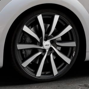 AEZ Reef SUV Black matt/polished Felge mit Reifen silber schwarz in 20Zoll Alufelge auf silbernem Audi TT III Typ 8S (Coupé) (Roadster) ⬇️ mit 15mm Tieferlegung ⬇️ Industriehalle 1 Thumbnail