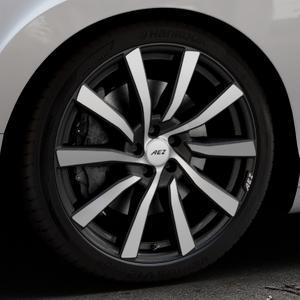 AEZ Reef SUV Black matt/polished Felge mit Reifen silber schwarz in 20Zoll Alufelge auf silbernem Bentley Continental Flying Spur GT GTC ⬇️ mit 15mm Tieferlegung ⬇️ Industriehalle 1 Thumbnail