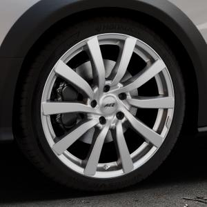 AEZ Reef SUV Silver Felge mit Reifen silber in 19Zoll Winterfelge Alufelge auf silbernem Audi A4 Typ 8KH/B8 Allroad ⬇️ mit 15mm Tieferlegung ⬇️ Industriehalle 1 Thumbnail