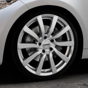 AEZ Reef SUV Silver Felge mit Reifen silber in 19Zoll Winterfelge Alufelge auf silbernem BMW M2 Typ F87 ⬇️ mit 15mm Tieferlegung ⬇️ Industriehalle 1 Thumbnail