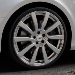 AEZ Reef SUV Silver Felge mit Reifen silber in 20Zoll Winterfelge Alufelge auf silbernem Audi A4 Typ 8K2/B8 (Limousine) ⬇️ mit 15mm Tieferlegung ⬇️ Industriehalle 1 Thumbnail