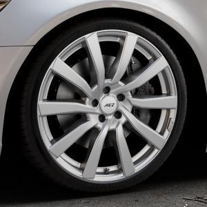 AEZ Reef SUV Silver Felge mit Reifen silber in 20Zoll Winterfelge Alufelge auf silbernem Audi A6 Typ 4G/C7 (Limousine) ⬇️ mit 15mm Tieferlegung ⬇️ Industriehalle 1 Thumbnail