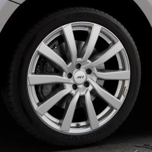 AEZ Reef SUV Silver Felge mit Reifen silber in 20Zoll Winterfelge Alufelge auf silbernem Audi Q5 I Typ 8R ⬇️ mit 15mm Tieferlegung ⬇️ Industriehalle 1 Thumbnail