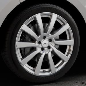 AEZ Reef SUV Silver Felge mit Reifen silber in 20Zoll Winterfelge Alufelge auf silbernem Ford Edge Typ SBF ⬇️ mit 15mm Tieferlegung ⬇️ Industriehalle 1 Thumbnail