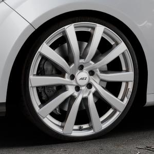 AEZ Reef SUV Silver Felge mit Reifen silber in 20Zoll Winterfelge Alufelge auf silbernem Ford Focus III Typ DYB (Schrägheck) (Stufenheck) Facelift ⬇️ mit 15mm Tieferlegung ⬇️ Industriehalle 1 Thumbnail