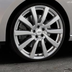 AEZ Reef SUV Silver Felge mit Reifen silber in 20Zoll Winterfelge Alufelge auf silbernem Seat Leon Typ 5F ST Facelift ⬇️ mit 15mm Tieferlegung ⬇️ Industriehalle 1 Thumbnail