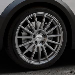 AEZ Steam Graphite matt Felge mit Reifen grau in 19Zoll Winterfelge Alufelge auf silbernem Audi A4 Typ B9 Allroad ⬇️ mit 15mm Tieferlegung ⬇️ Industriehalle 1 Thumbnail