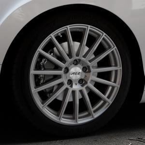 AEZ Steam Graphite matt Felge mit Reifen grau in 19Zoll Winterfelge Alufelge auf silbernem Bentley Continental Flying Spur GT GTC ⬇️ mit 15mm Tieferlegung ⬇️ Industriehalle 1 Thumbnail