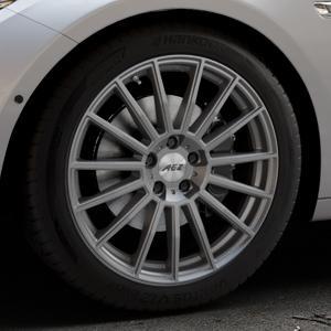 AEZ Steam Graphite matt Felge mit Reifen grau in 19Zoll Winterfelge Alufelge auf silbernem BMW 535i GT Typ F07 xDrive 550i 530d 535d 520d 528i ⬇️ mit 15mm Tieferlegung ⬇️ Industriehalle 1 Thumbnail