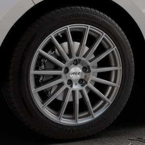 AEZ Steam Graphite matt Felge mit Reifen grau in 19Zoll Winterfelge Alufelge auf silbernem Ford Edge Typ SBF ⬇️ mit 15mm Tieferlegung ⬇️ Industriehalle 1 Thumbnail