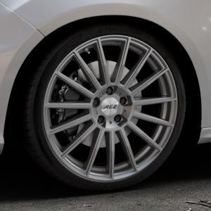 AEZ Steam Graphite matt Felge mit Reifen grau in 19Zoll Winterfelge Alufelge auf silbernem Ford Focus III Typ DYB Facelift (Schrägheck) 2,3l EcoBoost 257kW RS (349 PS) ⬇️ mit 15mm Tieferlegung ⬇️ Industriehalle 1 Thumbnail