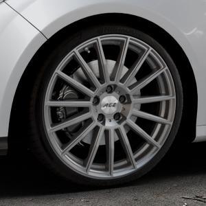 AEZ Steam Graphite matt Felge mit Reifen grau in 19Zoll Winterfelge Alufelge auf silbernem Ford Focus III Typ DYB (Schrägheck) (Stufenheck) Facelift ⬇️ mit 15mm Tieferlegung ⬇️ Industriehalle 1 Thumbnail
