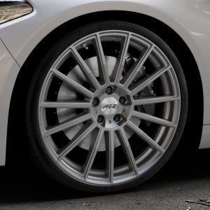 AEZ Steam Graphite matt Felge mit Reifen grau in 20Zoll Winterfelge Alufelge auf silbernem Alfa Romeo Giulia Typ 952 ⬇️ mit 15mm Tieferlegung ⬇️ Industriehalle 1 Thumbnail