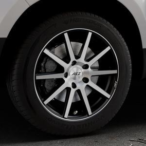 AEZ Straight Black/polished front Felge mit Reifen silber schwarz mehrfarbig in 17Zoll Alufelge auf silbernem Dacia Duster Typ SD ⬇️ mit 15mm Tieferlegung ⬇️ Industriehalle 1 Thumbnail