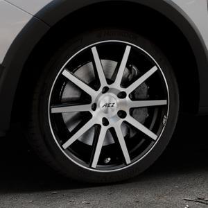 AEZ Straight Black/polished front Felge mit Reifen silber schwarz mehrfarbig in 17Zoll Alufelge auf silbernem Dacia Sandero Stepway II Typ SD ⬇️ mit 15mm Tieferlegung ⬇️ Industriehalle 1 Thumbnail
