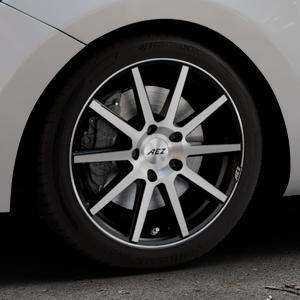 AEZ Straight Black/polished front Felge mit Reifen silber schwarz mehrfarbig in 17Zoll Alufelge auf silbernem Hyundai i30 Typ GDH Kombi Facelift Coupe ⬇️ mit 15mm Tieferlegung ⬇️ Industriehalle 1 Thumbnail