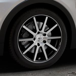 AEZ Straight Black/polished front Felge mit Reifen silber schwarz mehrfarbig in 17Zoll Alufelge auf silbernem Opel Ampera-e Typ 1G0F ⬇️ mit 15mm Tieferlegung ⬇️ Industriehalle 1 Thumbnail