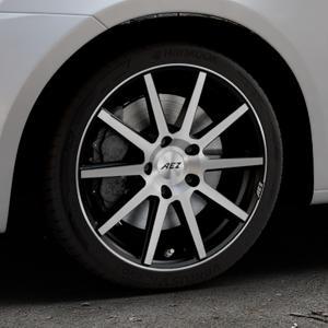 AEZ Straight Black/polished front Felge mit Reifen silber schwarz mehrfarbig in 17Zoll Alufelge auf silbernem Suzuki Swift V Typ NZ FZ ⬇️ mit 15mm Tieferlegung ⬇️ Industriehalle 1 Thumbnail
