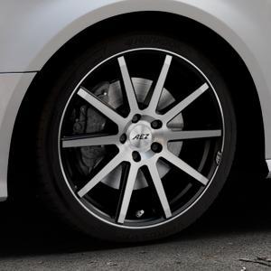 AEZ Straight Black/polished front Felge mit Reifen silber schwarz mehrfarbig in 18Zoll Alufelge auf silbernem Audi A3 Typ 8V Facelift ⬇️ mit 15mm Tieferlegung ⬇️ Industriehalle 1 Thumbnail