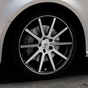 AEZ Straight Black/polished front Felge mit Reifen silber schwarz mehrfarbig in 18Zoll Alufelge auf silbernem Audi A3 Typ 8V (Sportback) ⬇️ mit 15mm Tieferlegung ⬇️ Industriehalle 1 Thumbnail