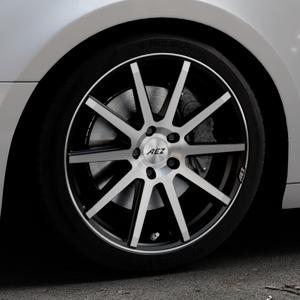 AEZ Straight Black/polished front Felge mit Reifen silber schwarz mehrfarbig in 18Zoll Alufelge auf silbernem Audi A4 Typ B9 (Avant) ⬇️ mit 15mm Tieferlegung ⬇️ Industriehalle 1 Thumbnail