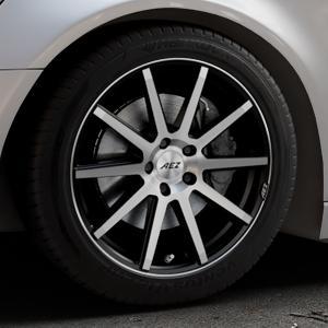 AEZ Straight Black/polished front Felge mit Reifen silber schwarz mehrfarbig in 18Zoll Alufelge auf silbernem Audi A6 Typ 4G/C7 (Avant) ⬇️ mit 15mm Tieferlegung ⬇️ Industriehalle 1 Thumbnail
