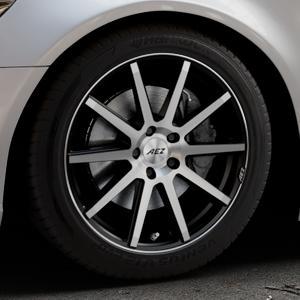 AEZ Straight Black/polished front Felge mit Reifen silber schwarz mehrfarbig in 18Zoll Alufelge auf silbernem Audi A6 Typ 4G/C7 (Limousine) ⬇️ mit 15mm Tieferlegung ⬇️ Industriehalle 1 Thumbnail