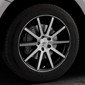 AEZ Straight Black/polished front Felge mit Reifen silber schwarz mehrfarbig in 18Zoll Alufelge auf silbernem Audi Q5 I Typ 8R ⬇️ mit 15mm Tieferlegung ⬇️ Industriehalle 1 Thumbnail