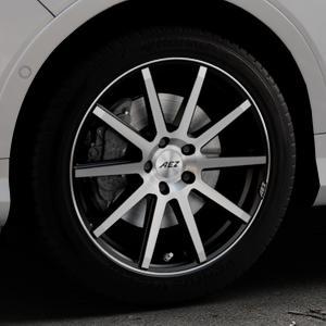 AEZ Straight Black/polished front Felge mit Reifen silber schwarz mehrfarbig in 18Zoll Alufelge auf silbernem Ford Kuga II Facelift (15->) (17->) ⬇️ mit 15mm Tieferlegung ⬇️ Industriehalle 1 Thumbnail