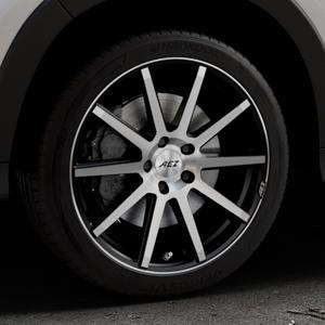 AEZ Straight Black/polished front Felge mit Reifen silber schwarz mehrfarbig in 18Zoll Alufelge auf silbernem Honda HR-V II (RU) ⬇️ mit 15mm Tieferlegung ⬇️ Industriehalle 1 Thumbnail