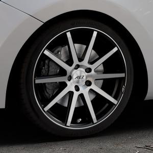 AEZ Straight Black/polished front Felge mit Reifen silber schwarz mehrfarbig in 18Zoll Alufelge auf silbernem Hyundai i30 Typ GDH Kombi Facelift Coupe ⬇️ mit 15mm Tieferlegung ⬇️ Industriehalle 1 Thumbnail