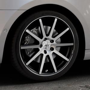 AEZ Straight Black/polished front Felge mit Reifen silber schwarz mehrfarbig in 18Zoll Alufelge auf silbernem Skoda Octavia III Kombi Typ 5E Facelift ⬇️ mit 15mm Tieferlegung ⬇️ Industriehalle 1 Thumbnail