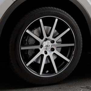 AEZ Straight Black/polished front Felge mit Reifen silber schwarz mehrfarbig in 18Zoll Alufelge auf silbernem Toyota C-HR Typ AX1T(EU,M) AX1T(EU,M)-TMG ⬇️ mit 15mm Tieferlegung ⬇️ Industriehalle 1 Thumbnail