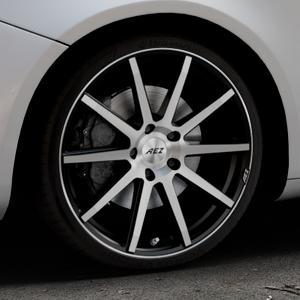 AEZ Straight Black/polished front Felge mit Reifen silber schwarz mehrfarbig in 19Zoll Alufelge auf silbernem Alfa Romeo Giulietta Typ 940 ⬇️ mit 15mm Tieferlegung ⬇️ Industriehalle 1 Thumbnail