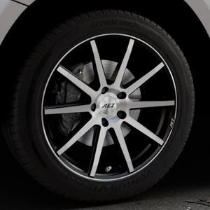 AEZ Straight Black/polished front Felge mit Reifen silber schwarz mehrfarbig in 19Zoll Alufelge auf silbernem Audi Q5 I Typ 8R ⬇️ mit 15mm Tieferlegung ⬇️ Industriehalle 1 Thumbnail