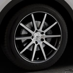 AEZ Straight Black/polished front Felge mit Reifen silber schwarz mehrfarbig in 19Zoll Alufelge auf silbernem Audi Q5 II Typ FY ⬇️ mit 15mm Tieferlegung ⬇️ Industriehalle 1 Thumbnail