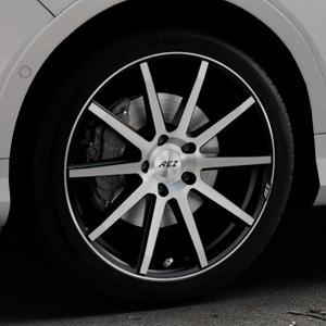 AEZ Straight Black/polished front Felge mit Reifen silber schwarz mehrfarbig in 19Zoll Alufelge auf silbernem Ford Kuga II Facelift (15->) (17->) ⬇️ mit 15mm Tieferlegung ⬇️ Industriehalle 1 Thumbnail