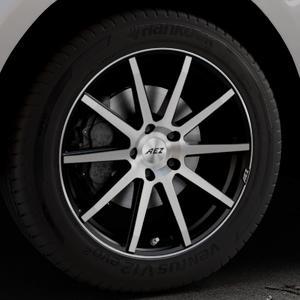 AEZ Straight Black/polished front Felge mit Reifen silber schwarz mehrfarbig in 19Zoll Alufelge auf silbernem Jaguar F-Pace Typ DC ⬇️ mit 15mm Tieferlegung ⬇️ Industriehalle 1 Thumbnail