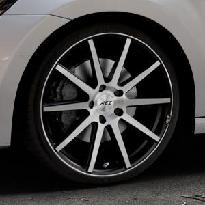 AEZ Straight Black/polished front Felge mit Reifen silber schwarz mehrfarbig in 19Zoll Alufelge auf silbernem Volkswagen (VW) Golf 7 Sportsvan ⬇️ mit 15mm Tieferlegung ⬇️ Industriehalle 1 Thumbnail