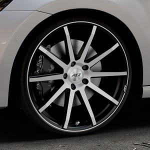 AEZ Straight Black/polished front Felge mit Reifen silber schwarz mehrfarbig in 20Zoll Alufelge auf silbernem Volkswagen (VW) Golf 7 Sportsvan ⬇️ mit 15mm Tieferlegung ⬇️ Industriehalle 1 Thumbnail