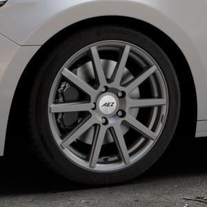 AEZ Straight Graphite matt Felge mit Reifen grau in 17Zoll Winterfelge Alufelge auf silbernem Audi A1 Typ GB (Sportback) ⬇️ mit 15mm Tieferlegung ⬇️ Industriehalle 1 Thumbnail