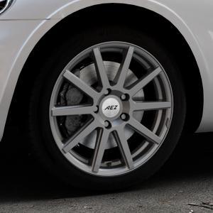 AEZ Straight Graphite matt Felge mit Reifen grau in 17Zoll Winterfelge Alufelge auf silbernem Chrysler PT Cruiser Cabriolet ⬇️ mit 15mm Tieferlegung ⬇️ Industriehalle 1 Thumbnail
