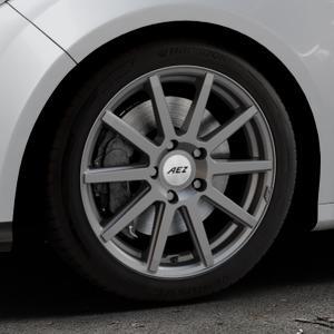 AEZ Straight Graphite matt Felge mit Reifen grau in 17Zoll Winterfelge Alufelge auf silbernem Ford Focus III Typ DYB (Schrägheck) (Stufenheck) Facelift ⬇️ mit 15mm Tieferlegung ⬇️ Industriehalle 1 Thumbnail
