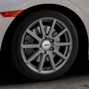AEZ Straight Graphite matt Felge mit Reifen grau in 17Zoll Winterfelge Alufelge auf silbernem Honda Civic 10 Schrägheck (FC) ⬇️ mit 15mm Tieferlegung ⬇️ Industriehalle 1 Thumbnail