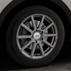 AEZ Straight Graphite matt Felge mit Reifen grau in 17Zoll Winterfelge Alufelge auf silbernem Kia Sportage IV Typ QL QLE ⬇️ mit 15mm Tieferlegung ⬇️ Industriehalle 1 Thumbnail
